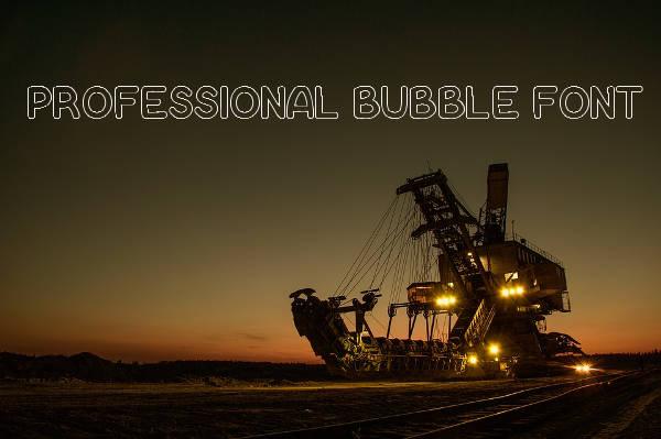 Professional Bubble Letters Font