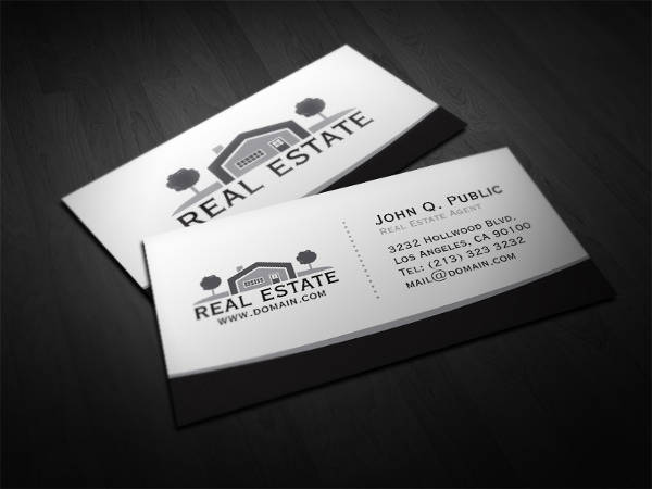 professional real estate business card