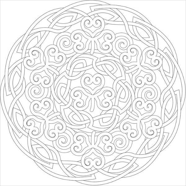 Quilt Pattern Coloring Page
