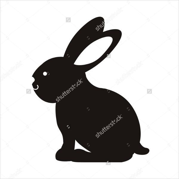 Rabbit Ears Silhouette