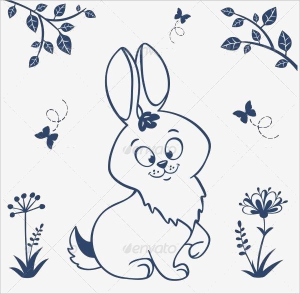 Rabbit Silhouette Outline 1