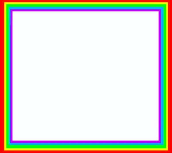 Rainbow Border Clipart