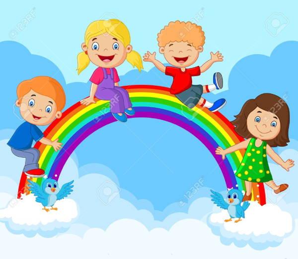 Rainbow Cartoon Clipart
