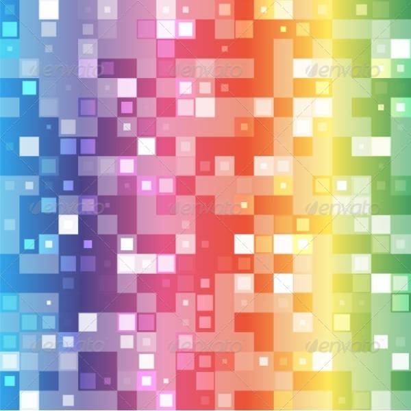 Rainbow Mosaic Pattern
