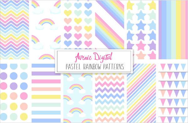 Rainbow Pastel Pattern