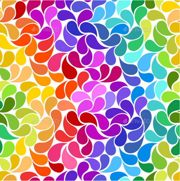 40 Rainbow Patterns PSD Vector EPS PNG Format Download Delectable Rainbow Pattern