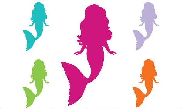 Rainbow Silhouette Mermaid