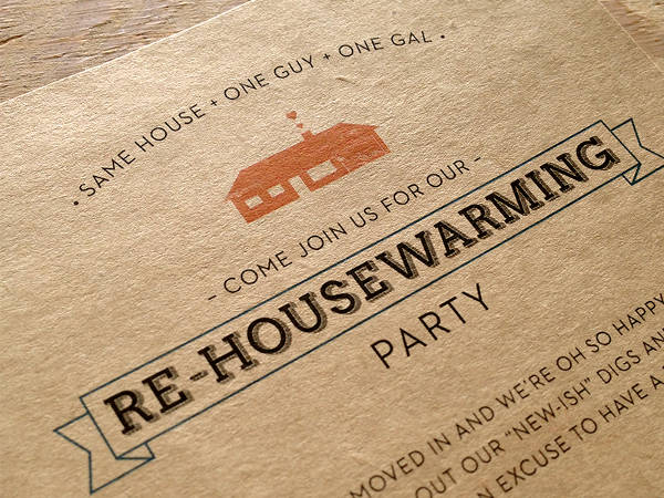 Re Housewarming Party Invitation Design
