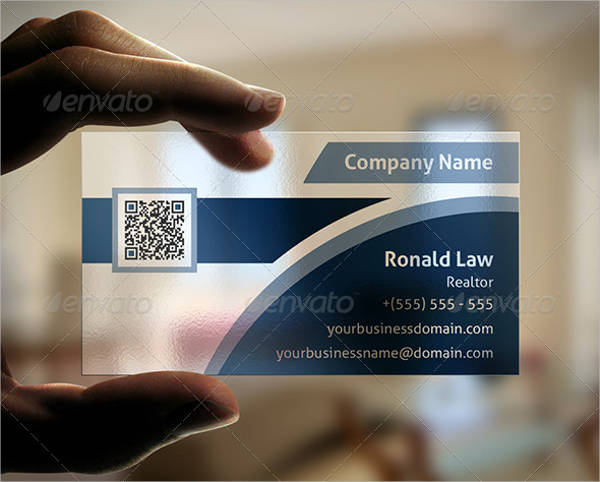 Real Estate Plastic Business Card