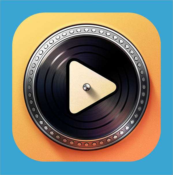 Realistic iOS App Icon