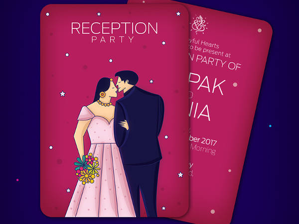 Reception Invitation Graphic Card