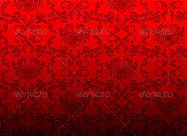 Red Damask Pattern