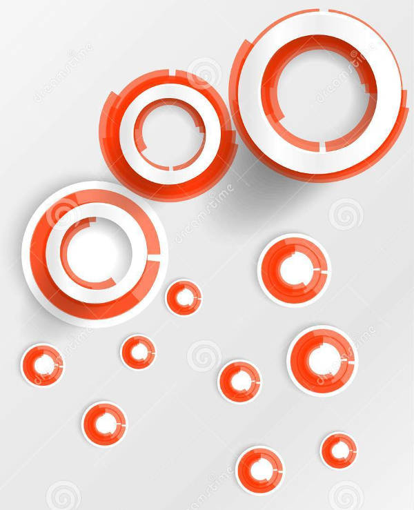 Red and White Circles Logo