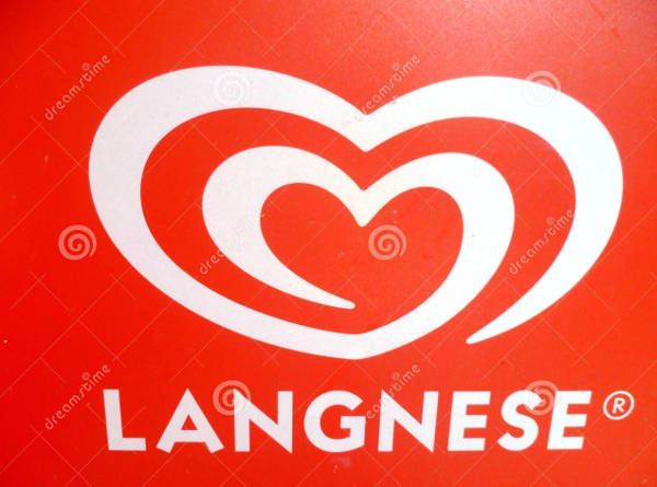 Red and White Langnese Logo