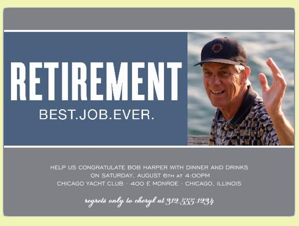 Retirement Photo Invitation Design