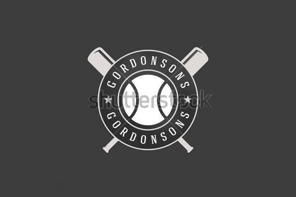 Retro Baseball Logo