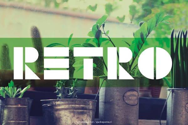 Retro Block Font