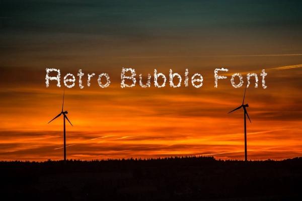 Retro Bubble Letters Font