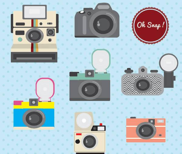 Retro Camera Clip Art