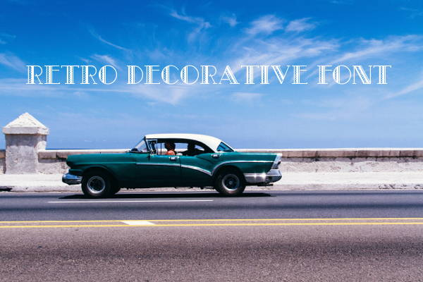 Retro Decorative Font