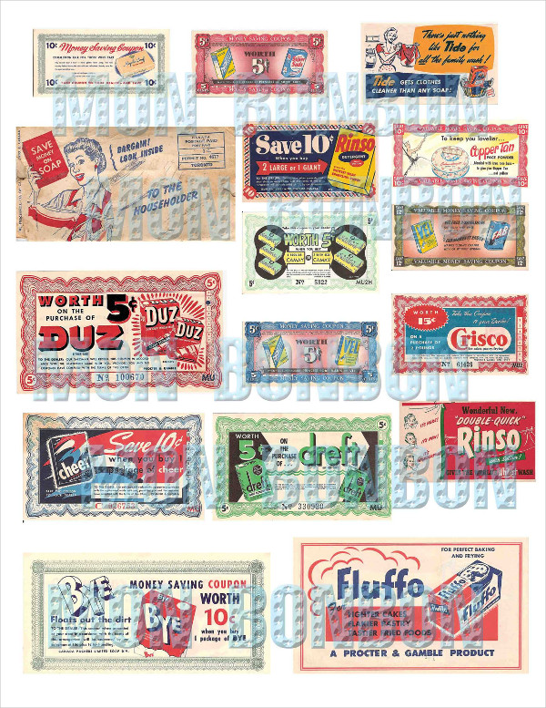 Retro Grocery Coupons