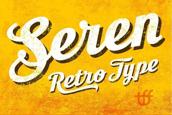 Retro Serif Script Font