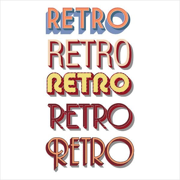 Retro Vector Graphic Styles