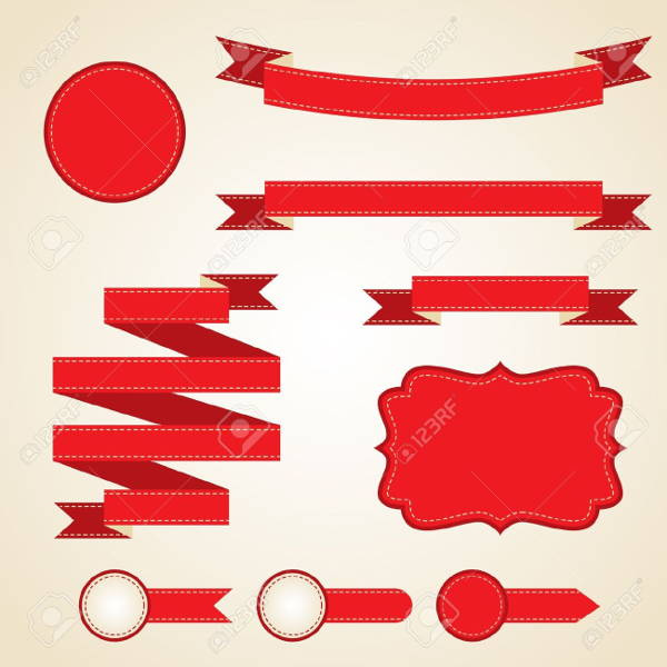 Ribbon Illustrator Vector