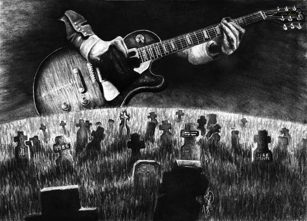 Rock Music Drawing