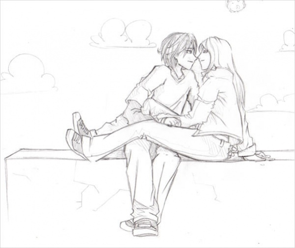 Romantic Couple Drawing