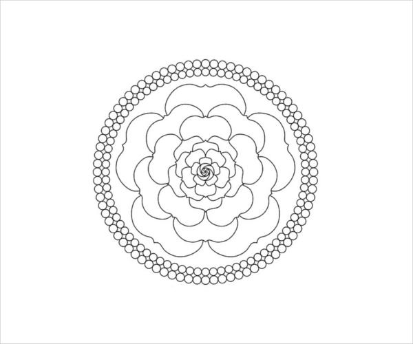 9 Rose Coloring Pages Jpg Ai Illustrator Download