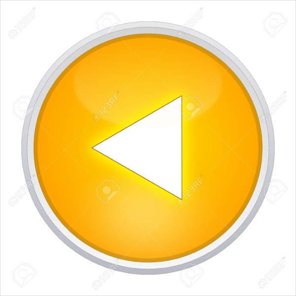 Round Back Button