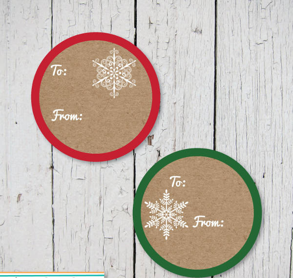 Round Printable Label