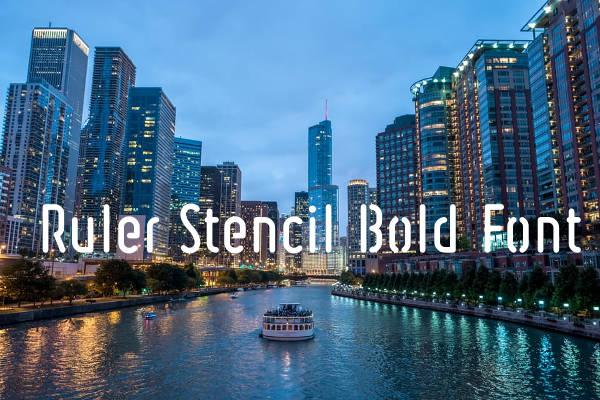 Ruler Stencil Bold Font
