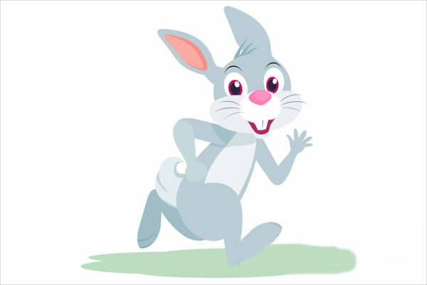 Running Bunny Clipart