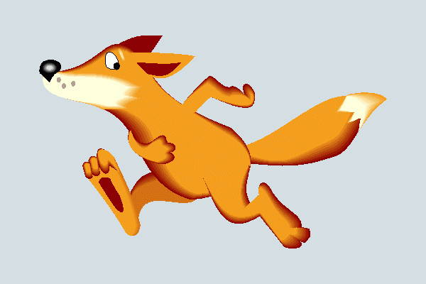running fox clipart
