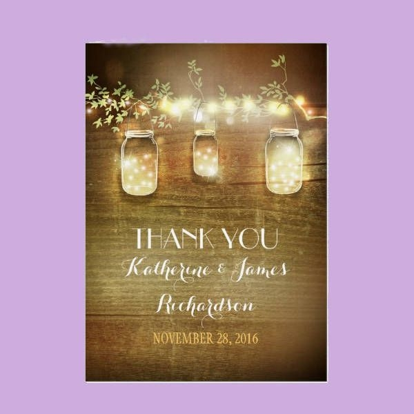 Rustic Personalized Thank You Card