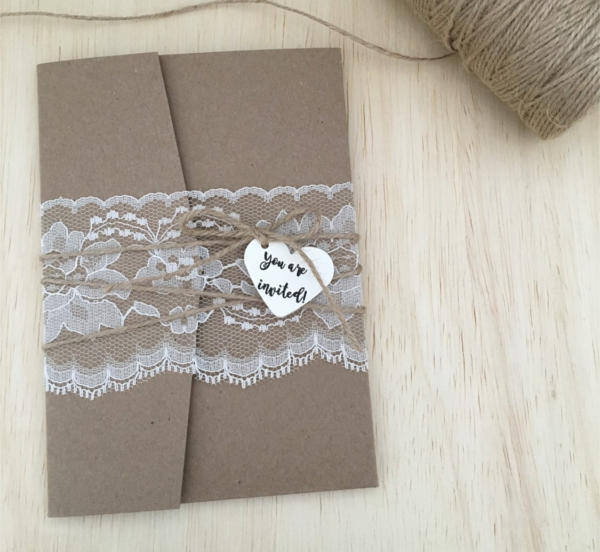 Rustic Pocket Invitation Design