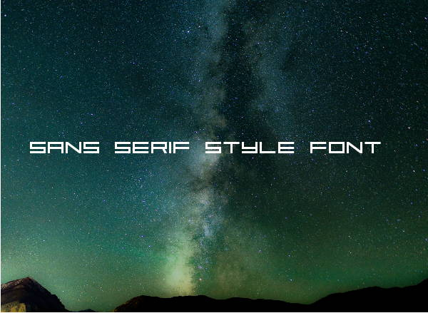 Sans Serif Style Font