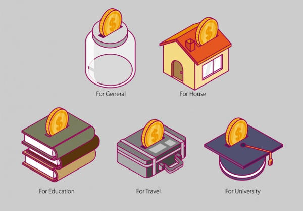 Save Money Icons