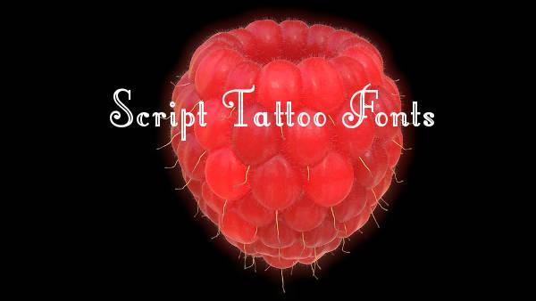 Script Tattoo Fonts