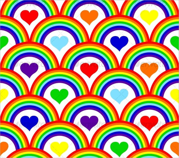 Seamless Rainbow Pattern