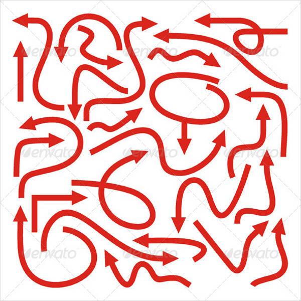 set of arrow vectors