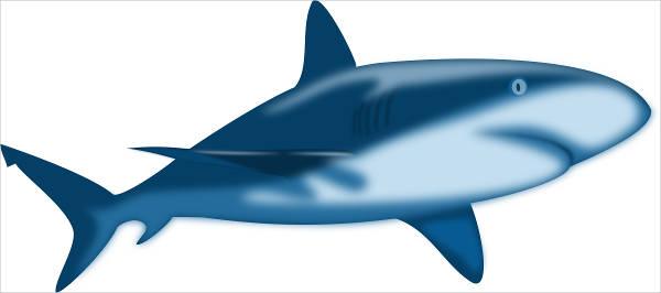 Shaded Shark Clipart