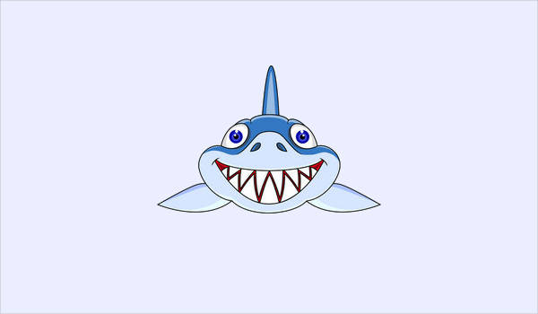 Shark Face Clipart