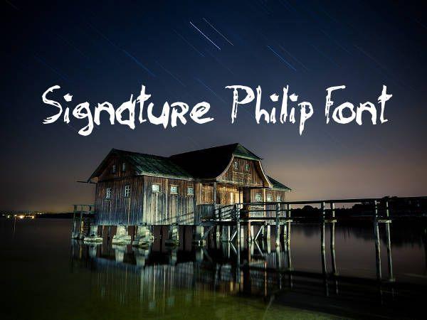 Signature Philip Font