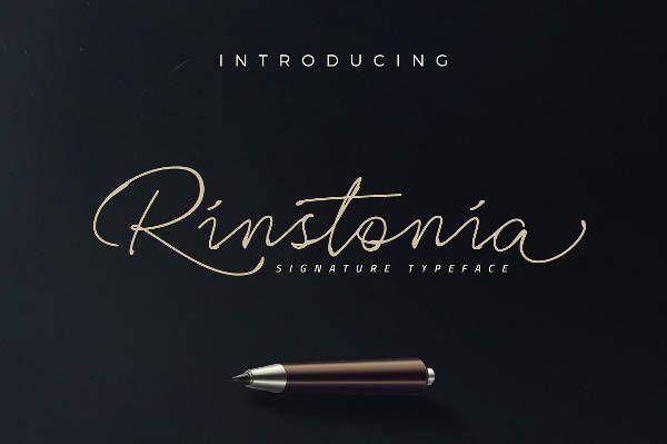 Signature Rinstonia Font
