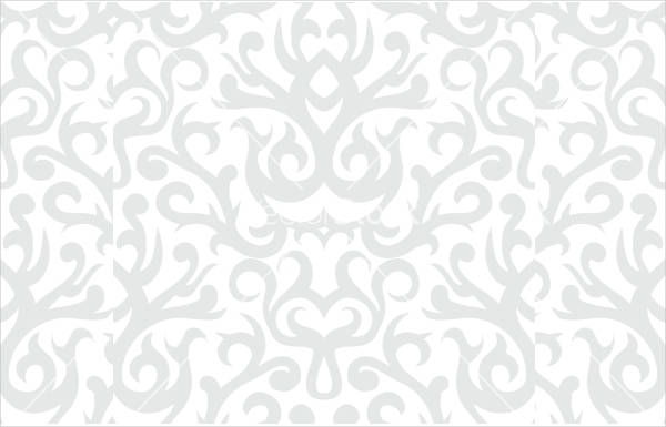 Silver Damask Pattern