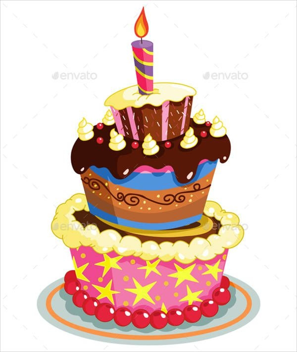 Birthday Cake Design Simple : 9+ Birthday Cake Designs - PSD, Vector EPS Download