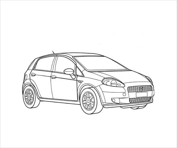 9  car coloring pages
